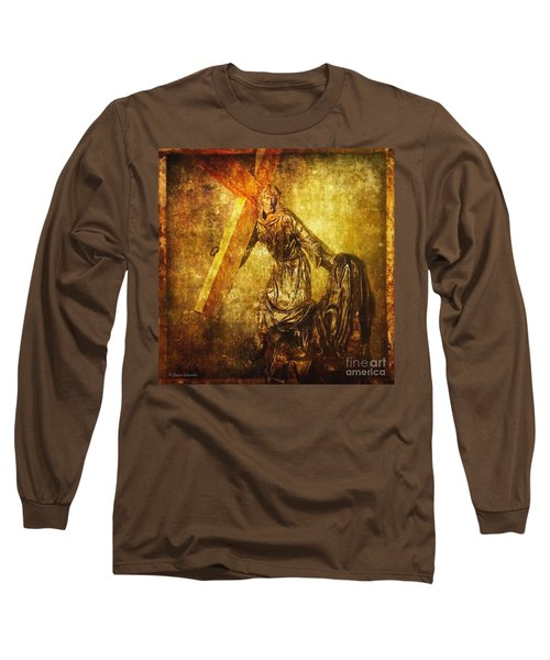 Daughters Of Jerusalem Via Dolorosa 8 Long Sleeve T-Shirt by Lianne Schneider