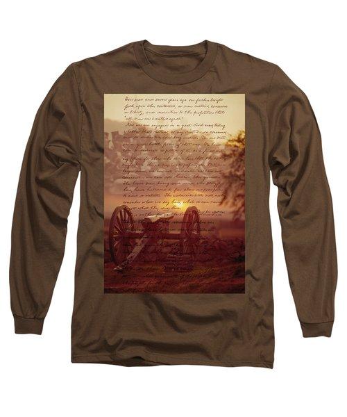 Dawn At Gettysburg Long Sleeve T-Shirt