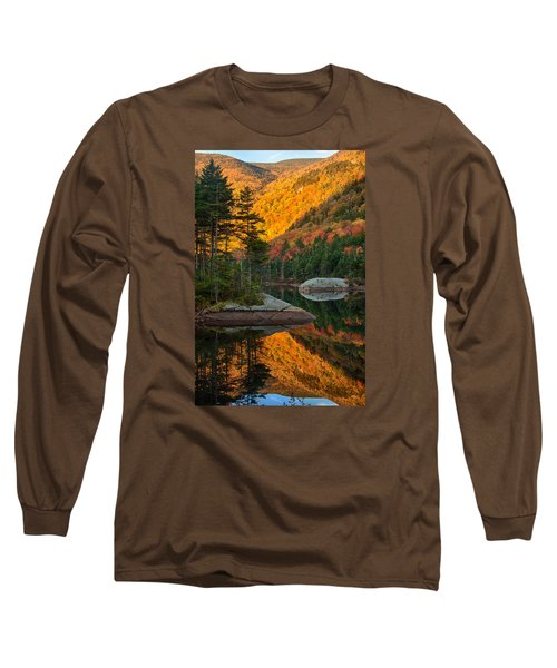 Long Sleeve T-Shirt featuring the photograph Dawns Foliage Reflection by Jeff Folger