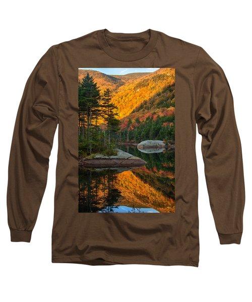 Dawns Foliage Reflection Long Sleeve T-Shirt