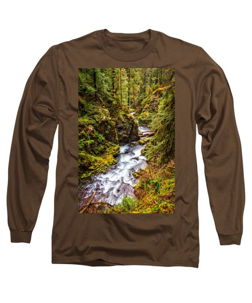 Deep In The Forest Long Sleeve T-Shirt by Ken Stanback