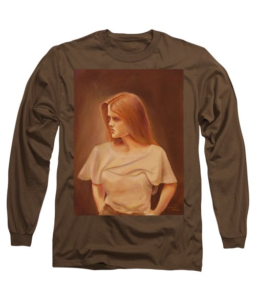 Deep In Thought Long Sleeve T-Shirt by Duane R Probus