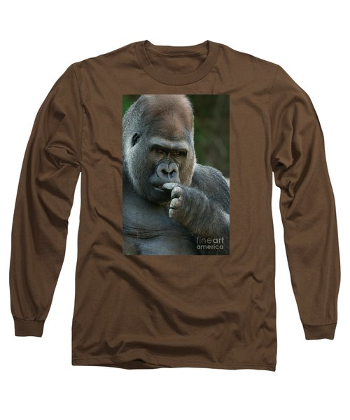 Deep In Thought Long Sleeve T-Shirt by Judy Whitton