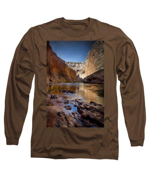Deep Inside The Grand Canyon Long Sleeve T-Shirt by Ellen Heaverlo