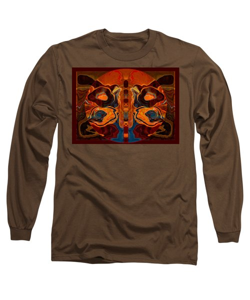 Long Sleeve T-Shirt featuring the painting Deities Abstract Digital Artwork by Omaste Witkowski