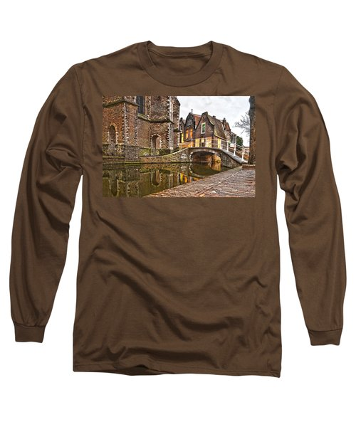 Delft Behind The Church Long Sleeve T-Shirt by Frans Blok