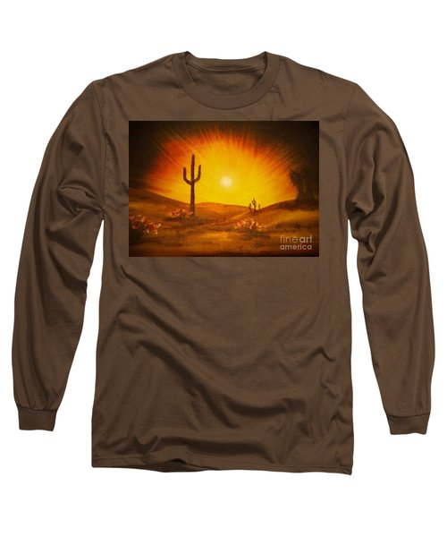 Desert Aglow Long Sleeve T-Shirt by Becky Lupe