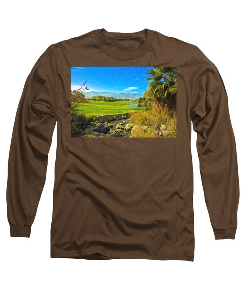 Desert Golf Resort Pastel Photograph Long Sleeve T-Shirt