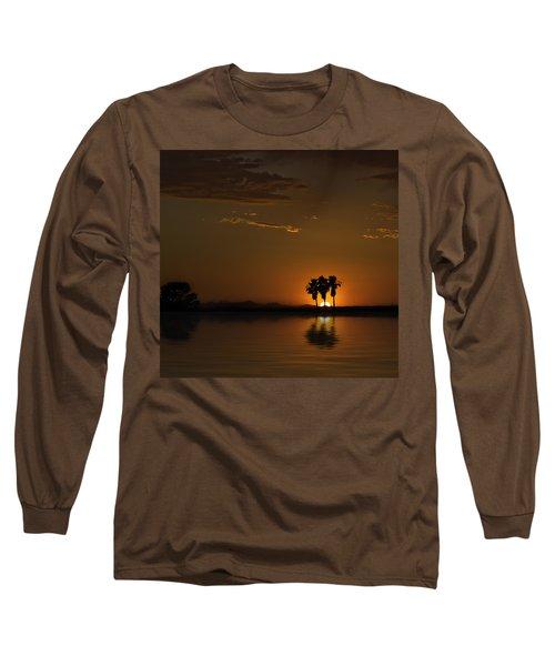 Desert Sunset Long Sleeve T-Shirt by Lynn Geoffroy
