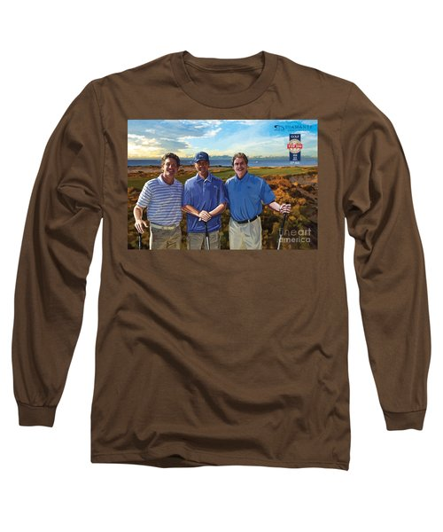 Long Sleeve T-Shirt featuring the painting Diamante Golf by Tim Gilliland