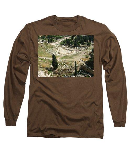 Dionysus Amphitheater Long Sleeve T-Shirt by Ellen Henneke