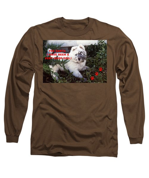 Dirty Dog Christmas Card Long Sleeve T-Shirt