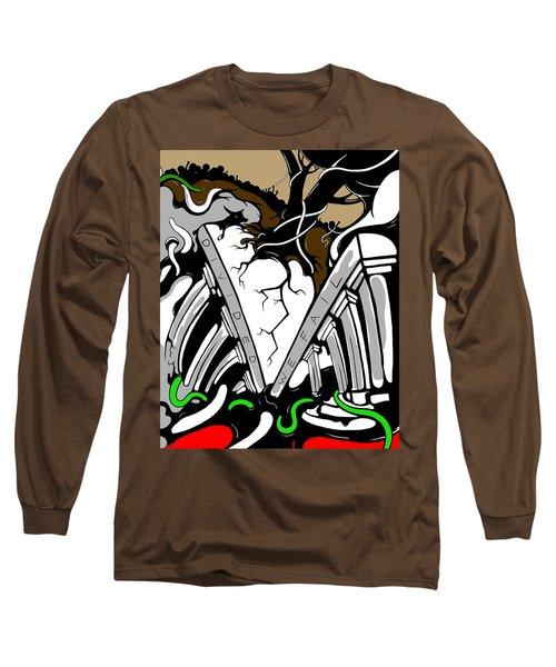 Divided Long Sleeve T-Shirt