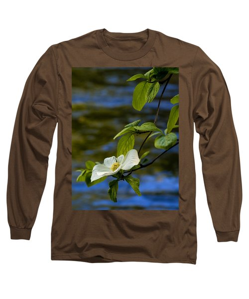 Dogwood On The Merced Long Sleeve T-Shirt by Bill Gallagher