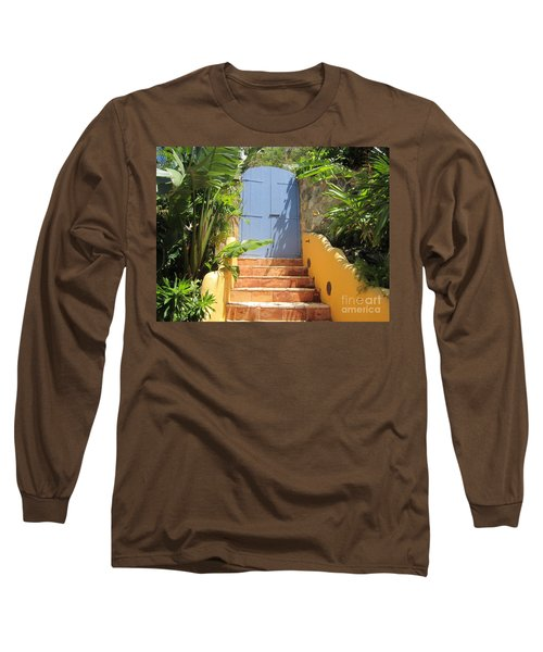 Doorway To Paradise Long Sleeve T-Shirt by Fiona Kennard
