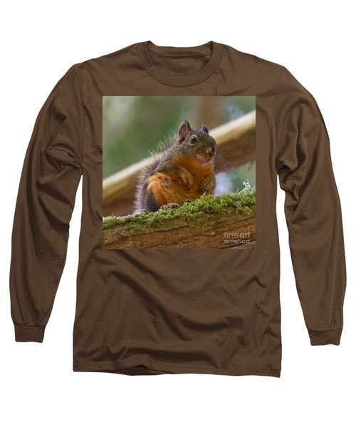 Douglas Squirrel Long Sleeve T-Shirt by Paul Rebmann