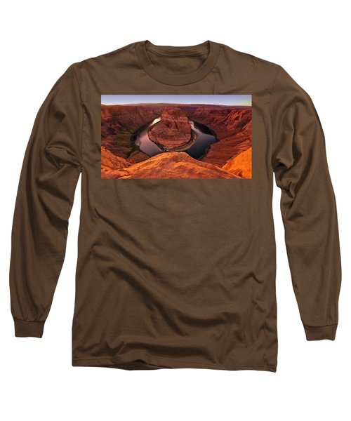 Long Sleeve T-Shirt featuring the photograph Dramatic River Bend by David Andersen