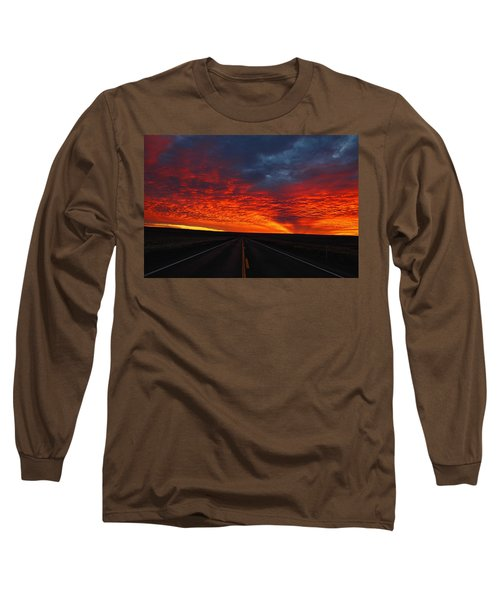 Long Sleeve T-Shirt featuring the photograph Dramatic Sunrise by Lynn Hopwood