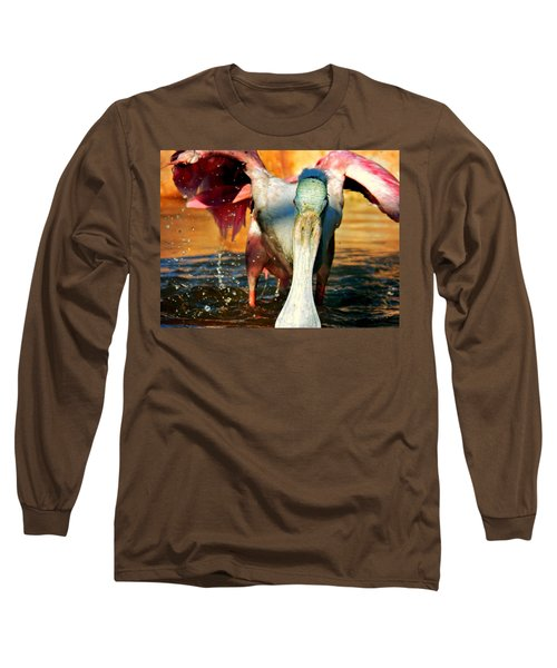 Long Sleeve T-Shirt featuring the photograph Drenched by Faith Williams