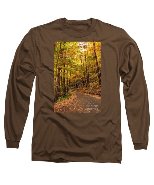 Long Sleeve T-Shirt featuring the photograph Driving Fall Mountain Roads. by Debbie Green