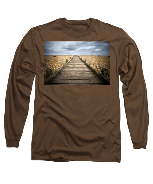 Dungeness Beach Walkway Long Sleeve T-Shirt
