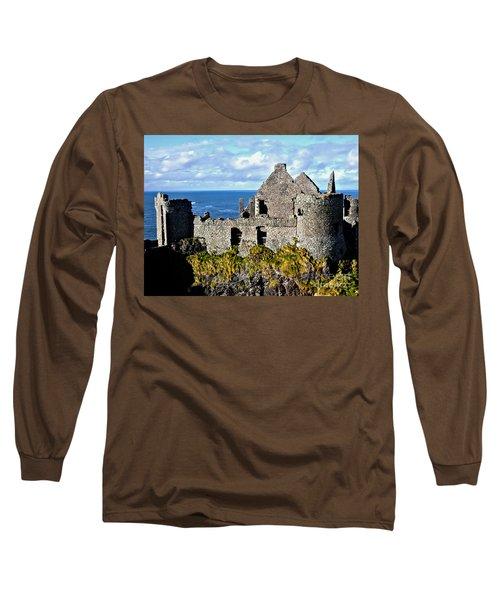 Dunluce Castle Long Sleeve T-Shirt by Nina Ficur Feenan