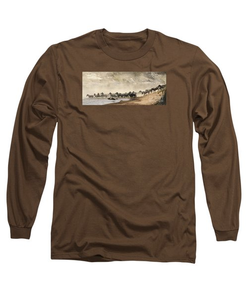 Long Sleeve T-Shirt featuring the photograph Dusty Crossing by Liz Leyden