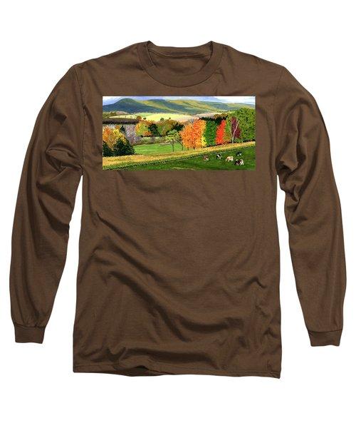 Early Autumn At Bear Meadows Farm Long Sleeve T-Shirt
