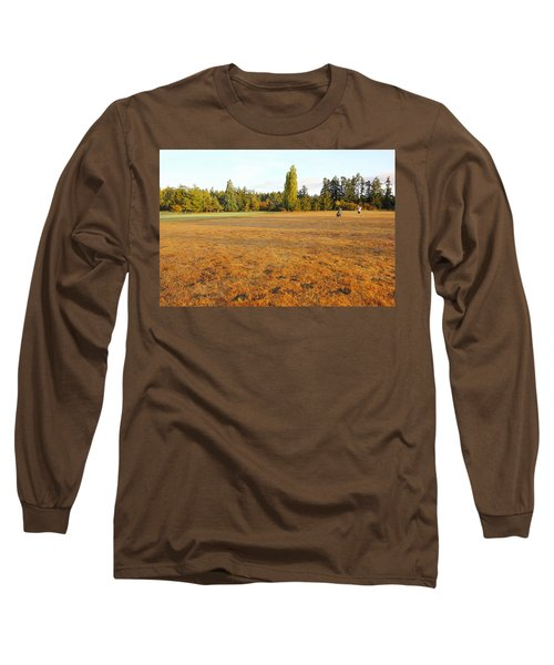 Early Fall Morning In The Rough On The Golf Course Long Sleeve T-Shirt