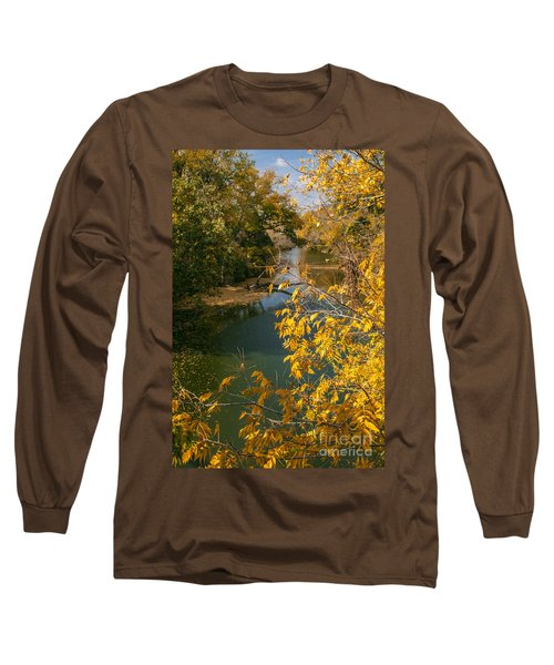 Early Fall On The Navasota Long Sleeve T-Shirt