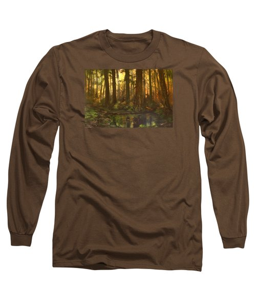 Early Morning Sun On Cannock Chase Long Sleeve T-Shirt by Jean Walker