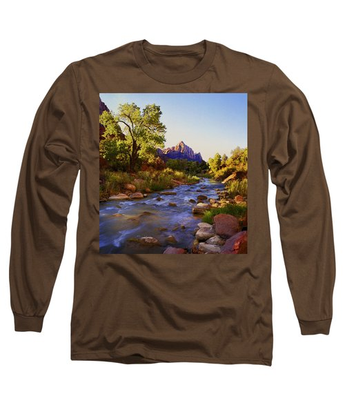 Early Morning Sunrise Zion N.p. Long Sleeve T-Shirt