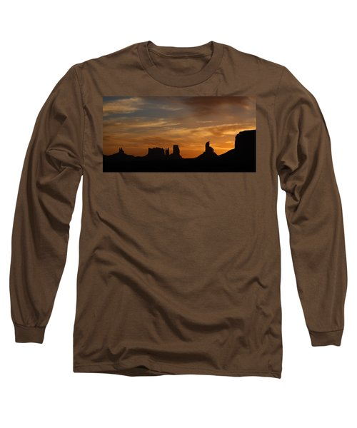 Early Sunrise Over Monument Valley Long Sleeve T-Shirt