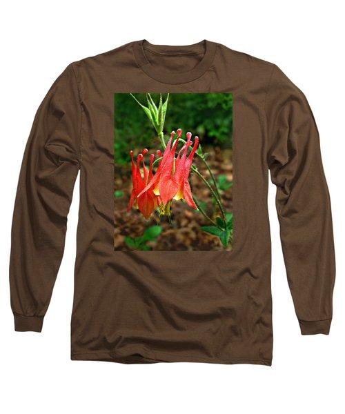 Wild Eastern Columbine Long Sleeve T-Shirt
