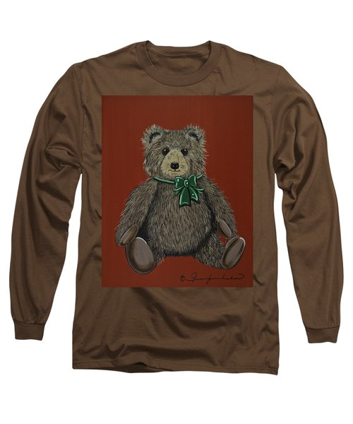 Long Sleeve T-Shirt featuring the painting Easton's Teddy by Jennifer Lake