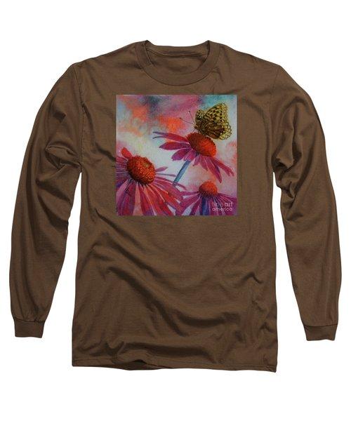 Echinacea Fritillaria Long Sleeve T-Shirt