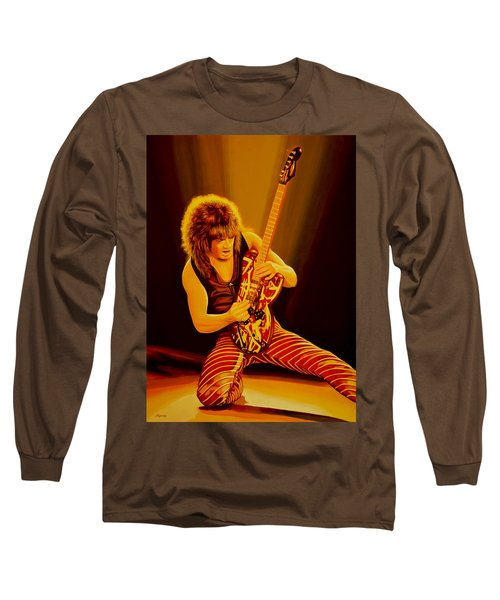 Eddie Van Halen Painting Long Sleeve T-Shirt