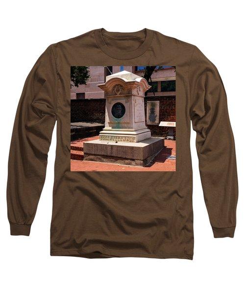 Edgar Allan Poe Tomb Long Sleeve T-Shirt