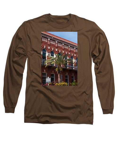 Long Sleeve T-Shirt featuring the photograph El Centro Espanol De Tampa by Paul Rebmann