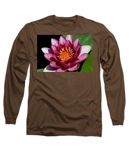 Elegant Lotus Water Lily Long Sleeve T-Shirt by Denyse Duhaime