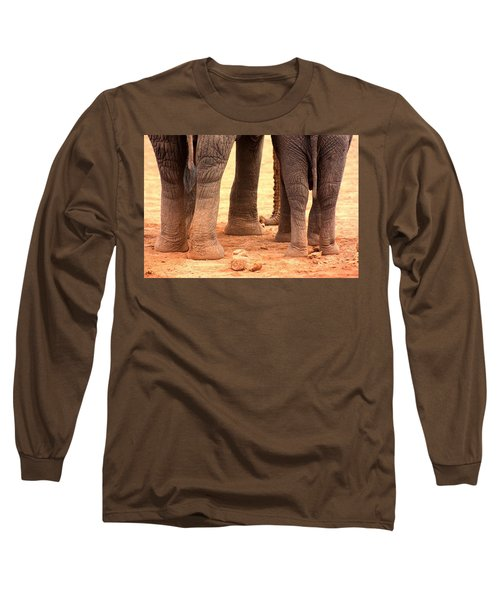 Long Sleeve T-Shirt featuring the photograph Elephant Family by Amanda Stadther