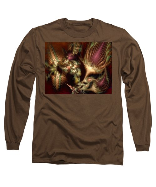 Long Sleeve T-Shirt featuring the digital art Elysian by Casey Kotas