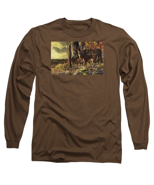 Long Sleeve T-Shirt featuring the painting Eminence At The Forest Edge by Rob Corsetti