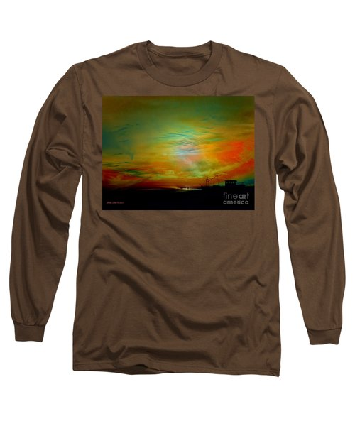 Long Sleeve T-Shirt featuring the photograph End Of The Fishing Day by Annie Zeno