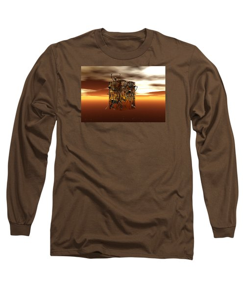 Long Sleeve T-Shirt featuring the digital art Escape Attempt by Claude McCoy