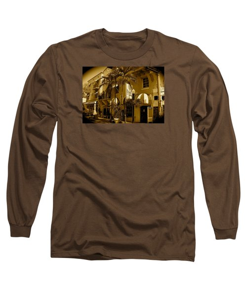 Espanola Way In Miami South Beach Long Sleeve T-Shirt