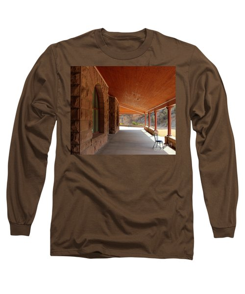 Long Sleeve T-Shirt featuring the photograph Evans Porch by Bill Gabbert
