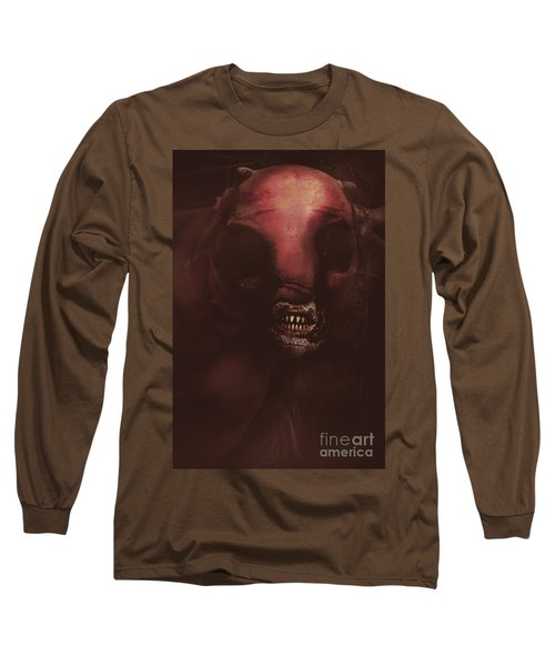 Evil Greek Mythology Minotaur Long Sleeve T-Shirt by Jorgo Photography - Wall Art Gallery