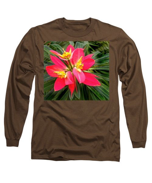 Exotic Red Flower Long Sleeve T-Shirt