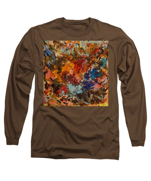Explosive Chaos Long Sleeve T-Shirt by Natalie Holland